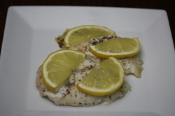 Simple Baked White Fish from Optimal Nutrition and Health