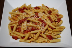 Garlicky Tomato Pasta from Optimal Nutrition and Health