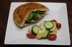 Italian Chicken Pita with Italian Vegetable Salad from Optimal Nutrition and Health