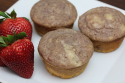 Strawberry Basil Swirl Muffins from Optimal Nutrition and Health